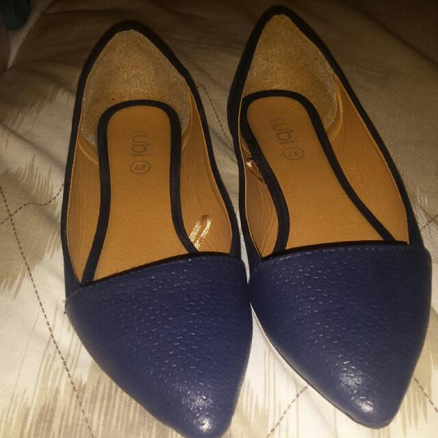 Rubi flat shoes size 37. navy blue,  with blue  on toes