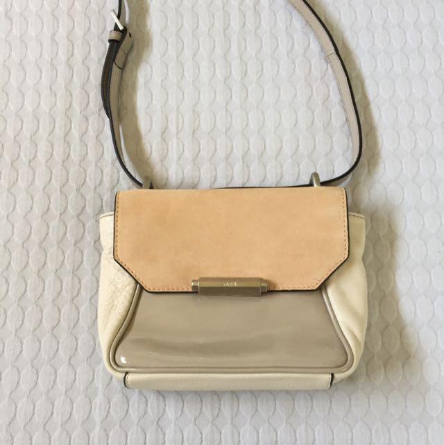 Saba Beige/white bag