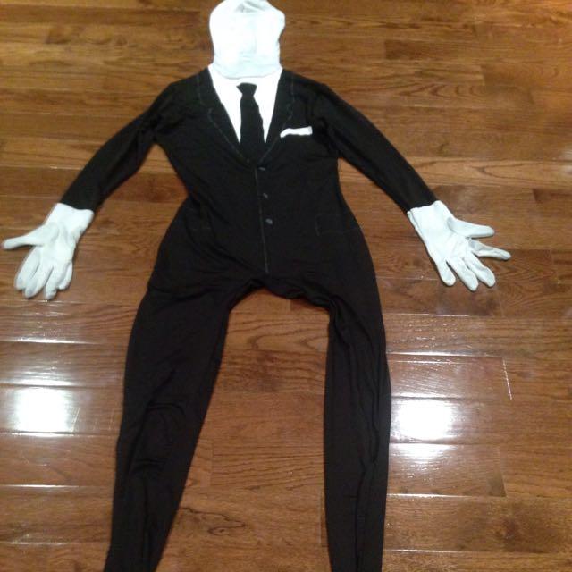 Slender man Morphsuit Costume