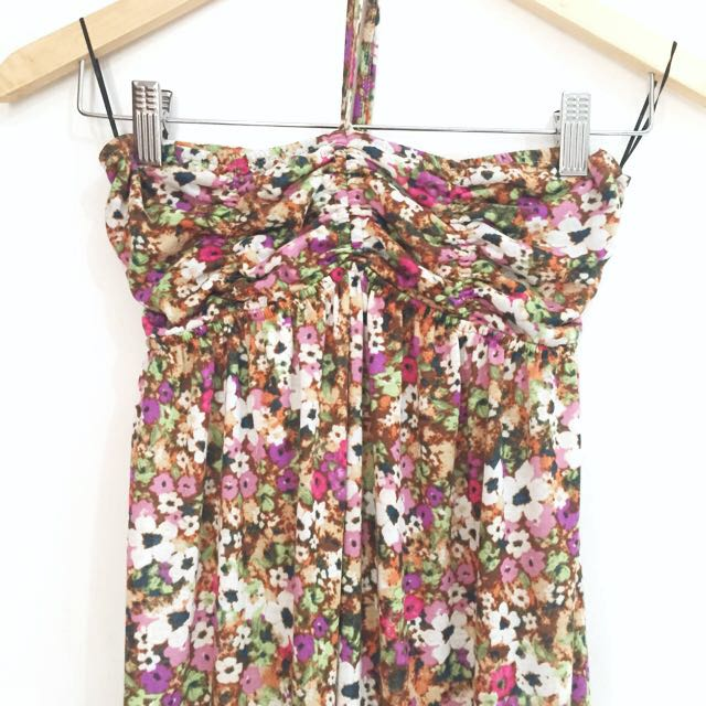 STRADIVARIUS floral long dress
