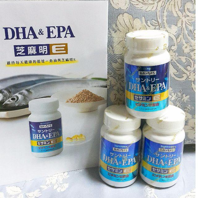 2瓶免運❤六天之界❤SUNTORY三得利 魚油 DHA&EPA+芝麻明E【30日份(120顆)瓶裝】