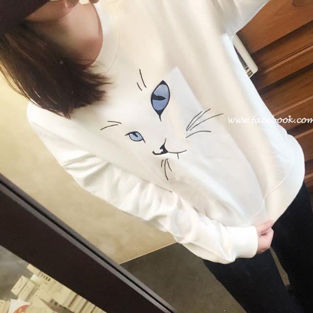 正韓🇰🇷貓咪厚棉T