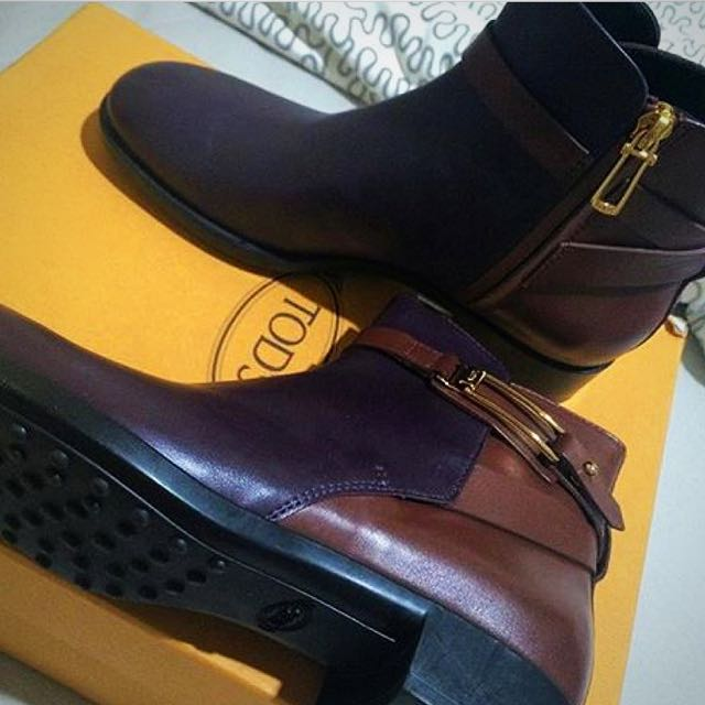 Tods Two Tones Ankle Boots