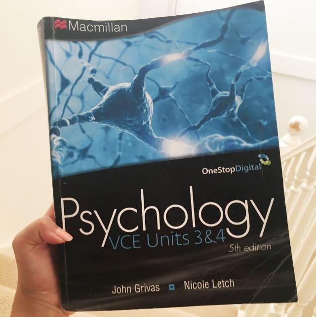 Year 12 Psychology Textbook - Macmillan VCE Units 3&4