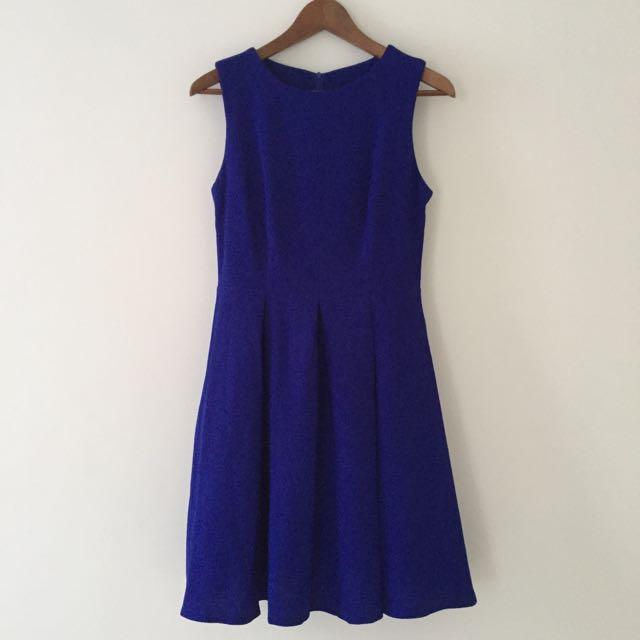 Zero to Ten Cobalt Blue Swing Dress