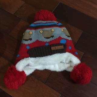 超保暖熊熊聖誕風鋪毛帽