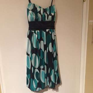 Teal Patterned Dress