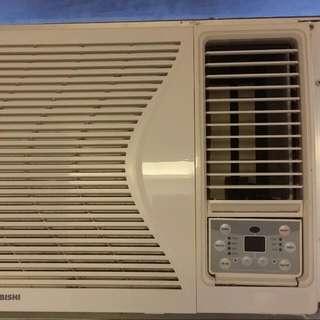 1匹窗口式有搖控冷氣機