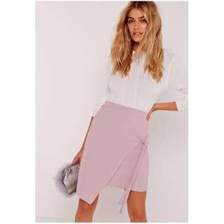 Lilac Crepe Tie Skirt