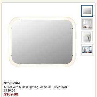 Ikea Storjorm Light Up Mirror