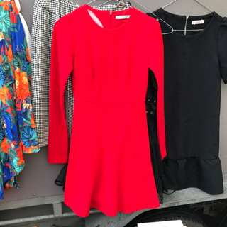 Red Trafaluc Zara Dress
