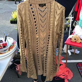 Elliatt Gold Cardigan