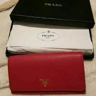 REDUCED Authentic Prada Saffiano Wallet On Chain
