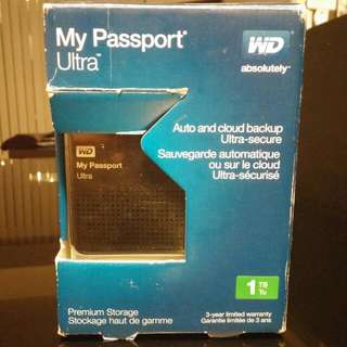 1TB - Black Passport Ultra