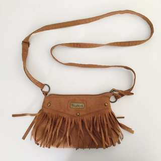 Over The Shoulder Small Brown Suede Bag
