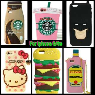 Free Shipping:Iphone 3D Soft Silicon Case for 6/6s