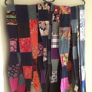 Handmade Patchwork Tie Belts
