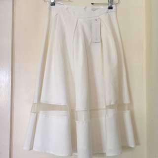 Brand new Midi White Skirt