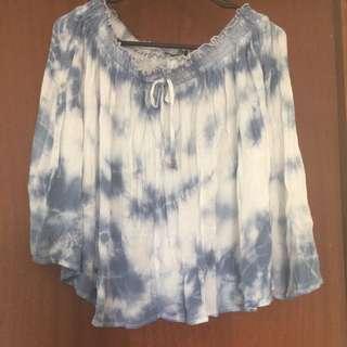 Size L Blue & White Skirt