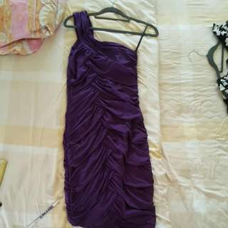 Kristine's Elegant Dress Purple / Grey