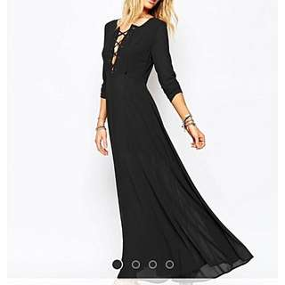 Glamorous Lace Up Maxi Dress Size 8