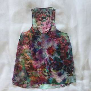 Forever New Floral Print Top Size 6