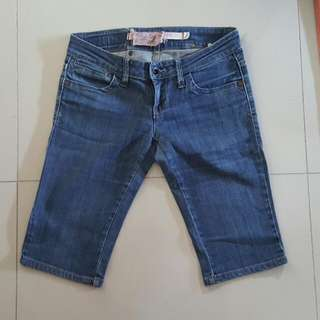 Denim Knee Length Pants