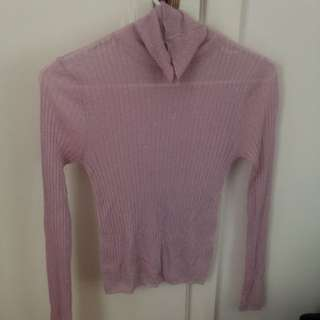 Gorman Pink Shimmery Turtleneck