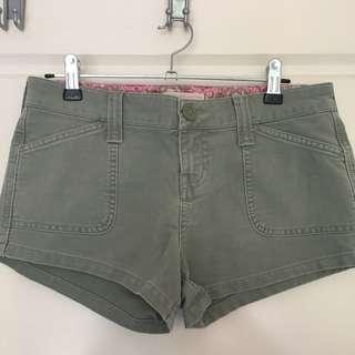 Khaki Abercrombie & Fitch Shorts