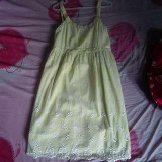 Dress Brukat Hijau size M