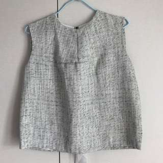 Ladies Sleeveless TOP With Ribbon tie At The Back