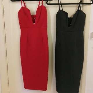 Deep V Neck Dress (similar to Nookie)