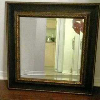 Brown Frame Mirror
