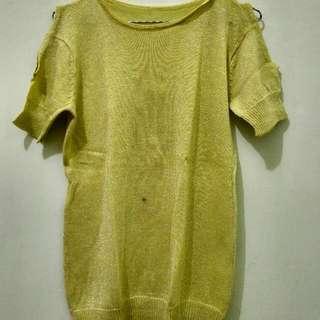 Knit Glitter Yellow