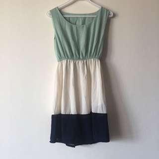 Colour Block Summer Dress