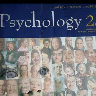 Psychology Book (Burton, Westen, Kowalski)