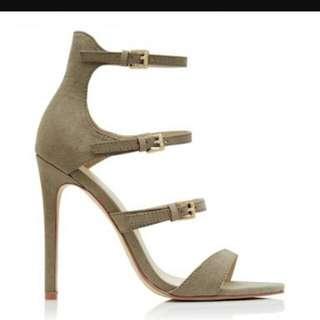 Forever New Khaki Strap Heels