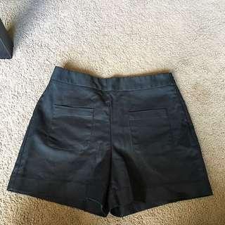 Zara Black Shorts With Front Pockets