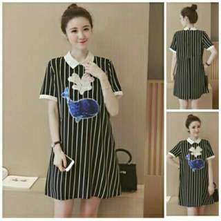 BT3151 Stripe Wilona Dress