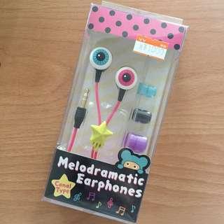 日本帶回 超可愛眼珠耳塞式耳機