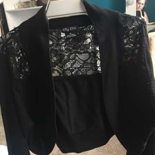 City Chic Long Sleeve Lace Bolero.