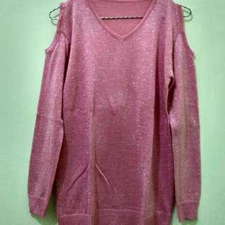Knit Glitter Pink