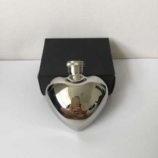 Stainless Steel Heart Shaped Flask