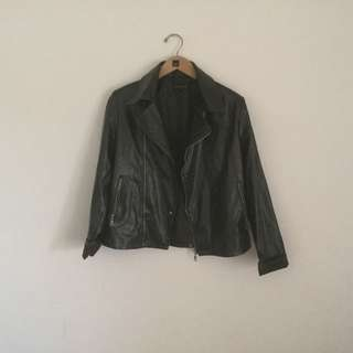 Forest Green Leather Jacket