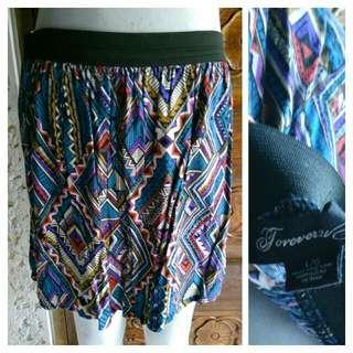 Forever 21 Aztec Print Skater Skirt Like Zara H&M Topshop