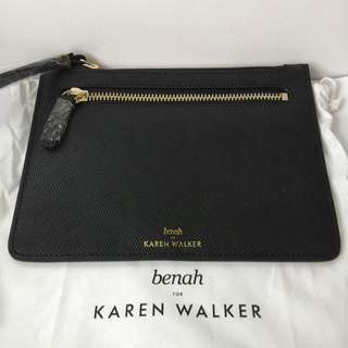 Benah By Karen Walker Black Clutch Wristlet