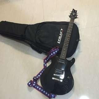 black electric guitar (gitar elektrik hitam) murah free bag/tempat