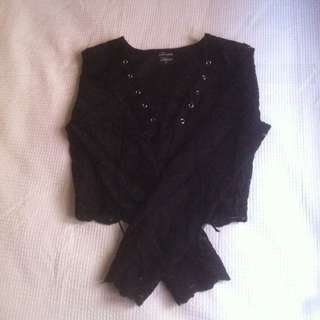 Lace Long Sleeve With Front lace Up