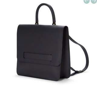 Du Zen Black Premium Leather Backpack