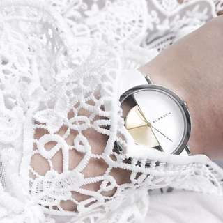 Klasse14 'Imperfect White Arch' Watch